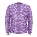 DAMASK2 WHITE MARBLE & PURPLE DENIM (R) Men s Sweatshirt View1