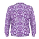 DAMASK2 WHITE MARBLE & PURPLE DENIM (R) Men s Sweatshirt View2