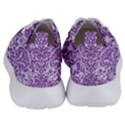 DAMASK2 WHITE MARBLE & PURPLE DENIM (R) Women s Lightweight Sports Shoes View4