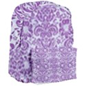 DAMASK2 WHITE MARBLE & PURPLE DENIM (R) Giant Full Print Backpack View3