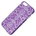 DAMASK2 WHITE MARBLE & PURPLE DENIM Apple iPhone 5 Classic Hardshell Case View4