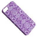 DAMASK2 WHITE MARBLE & PURPLE DENIM Apple iPhone 5 Classic Hardshell Case View5