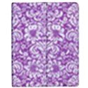 DAMASK2 WHITE MARBLE & PURPLE DENIM Apple iPad 3/4 Flip Case View1