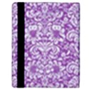 DAMASK2 WHITE MARBLE & PURPLE DENIM Apple iPad 3/4 Flip Case View3