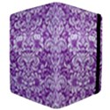 DAMASK2 WHITE MARBLE & PURPLE DENIM Apple iPad 3/4 Flip Case View4
