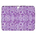 DAMASK2 WHITE MARBLE & PURPLE DENIM Samsung Galaxy Tab 3 (10.1 ) P5200 Hardshell Case  View1
