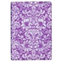DAMASK2 WHITE MARBLE & PURPLE DENIM iPad Mini 2 Flip Cases View1