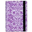 DAMASK2 WHITE MARBLE & PURPLE DENIM iPad Mini 2 Flip Cases View2