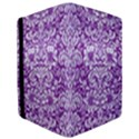DAMASK2 WHITE MARBLE & PURPLE DENIM iPad Mini 2 Flip Cases View3