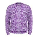 DAMASK2 WHITE MARBLE & PURPLE DENIM Men s Sweatshirt View1