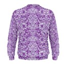 DAMASK2 WHITE MARBLE & PURPLE DENIM Men s Sweatshirt View2