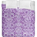 DAMASK2 WHITE MARBLE & PURPLE DENIM Duvet Cover Double Side (King Size) View1