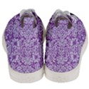 DAMASK2 WHITE MARBLE & PURPLE DENIM Men s Mid-Top Canvas Sneakers View4