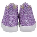 DAMASK2 WHITE MARBLE & PURPLE DENIM Kid s Mid-Top Canvas Sneakers View4