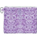 DAMASK2 WHITE MARBLE & PURPLE DENIM Canvas Cosmetic Bag (XXXL) View1