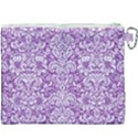 DAMASK2 WHITE MARBLE & PURPLE DENIM Canvas Cosmetic Bag (XXXL) View2