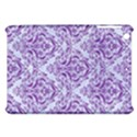 DAMASK1 WHITE MARBLE & PURPLE DENIM (R) Apple iPad Mini Hardshell Case View1