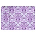 DAMASK1 WHITE MARBLE & PURPLE DENIM (R) Samsung Galaxy Tab 10.1  P7500 Flip Case View1