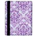 DAMASK1 WHITE MARBLE & PURPLE DENIM (R) Samsung Galaxy Tab 10.1  P7500 Flip Case View2
