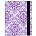 DAMASK1 WHITE MARBLE & PURPLE DENIM (R) Samsung Galaxy Tab 10.1  P7500 Flip Case View3