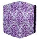 DAMASK1 WHITE MARBLE & PURPLE DENIM (R) Samsung Galaxy Tab 10.1  P7500 Flip Case View4