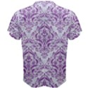 DAMASK1 WHITE MARBLE & PURPLE DENIM (R) Men s Cotton Tee View2