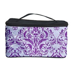 DAMASK1 WHITE MARBLE & PURPLE DENIM (R) Cosmetic Storage Case
