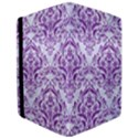 DAMASK1 WHITE MARBLE & PURPLE DENIM (R) Apple iPad Pro 12.9   Flip Case View3