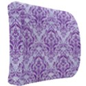 DAMASK1 WHITE MARBLE & PURPLE DENIM (R) Back Support Cushion View2