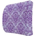 DAMASK1 WHITE MARBLE & PURPLE DENIM (R) Back Support Cushion View3