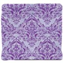 DAMASK1 WHITE MARBLE & PURPLE DENIM (R) Back Support Cushion View4