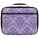 DAMASK1 WHITE MARBLE & PURPLE DENIM (R) Full Print Lunch Bag View1