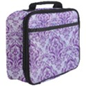 DAMASK1 WHITE MARBLE & PURPLE DENIM (R) Full Print Lunch Bag View3