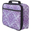 DAMASK1 WHITE MARBLE & PURPLE DENIM (R) Full Print Lunch Bag View4