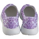 DAMASK1 WHITE MARBLE & PURPLE DENIM (R) Women s Lightweight Slip Ons View4