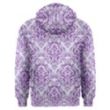 DAMASK1 WHITE MARBLE & PURPLE DENIM (R) Men s Overhead Hoodie View2