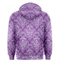 DAMASK1 WHITE MARBLE & PURPLE DENIM Men s Pullover Hoodie View2