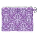 DAMASK1 WHITE MARBLE & PURPLE DENIM Canvas Cosmetic Bag (XXL) View2
