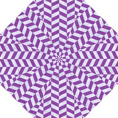 Chevron1 White Marble & Purple Denim Golf Umbrellas by trendistuff