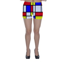 Piet Mondrian Mondriaan Style Skinny Shorts by yoursparklingshop
