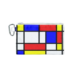 Piet Mondrian Mondriaan Style Canvas Cosmetic Bag (small) by yoursparklingshop
