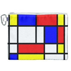 Piet Mondrian Mondriaan Style Canvas Cosmetic Bag (xxl) by yoursparklingshop