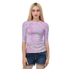Soft Pink Watercolor Art Quarter Sleeve Raglan Tee by yoursparklingshop