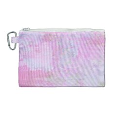 Soft Pink Watercolor Art Canvas Cosmetic Bag (large) by yoursparklingshop