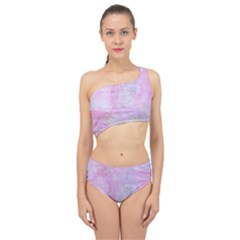 Soft Pink Watercolor Art Spliced Up Swimsuit by yoursparklingshop