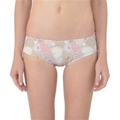 Cute Romantic Hearts Pattern Classic Bikini Bottoms