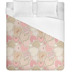 Cute Romantic Hearts Pattern Duvet Cover (california King Size)