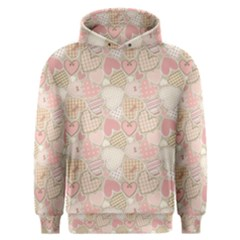 Cute Romantic Hearts Pattern Men s Overhead Hoodie by yoursparklingshop