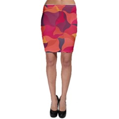 Red Orange Yellow Pink Art Bodycon Skirt by yoursparklingshop