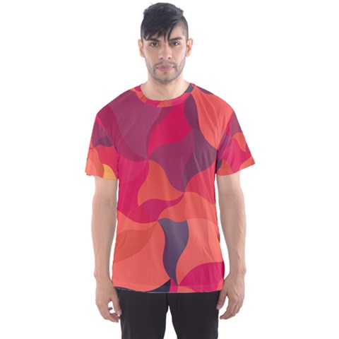 Red Orange Yellow Pink Art Men s Sports Mesh Tee by yoursparklingshop